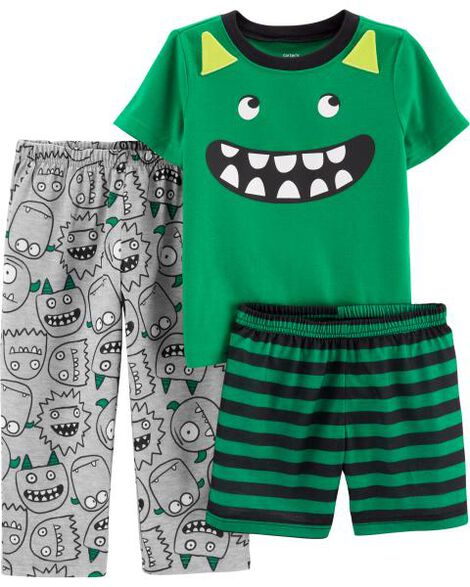 Display product reviews for 3-Piece Monster Poly PJs