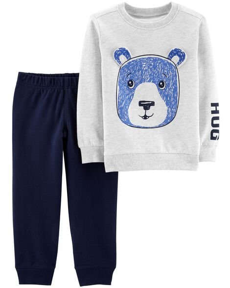 Display product reviews for 2-Piece Bear Pullover & Jogger Set