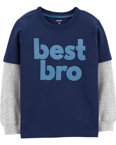 Display product reviews for Best Bro Layered-Look Tee
