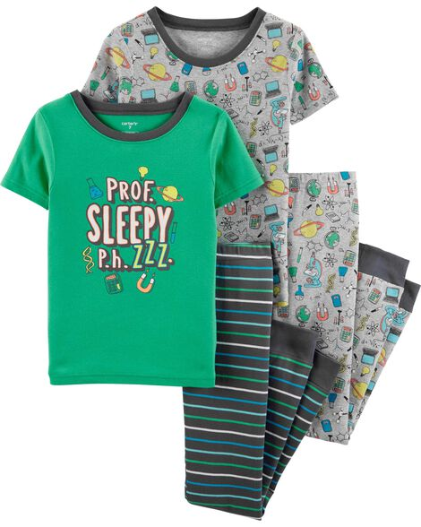Display product reviews for 4-Piece Science Snug Fit Cotton PJs f72efd488