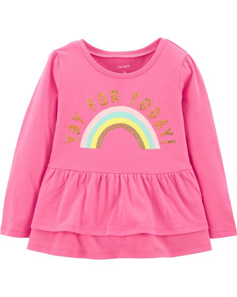 Display product reviews for Yay For Today Rainbow Tee