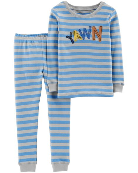 Display product reviews for 2-Piece Certified Organic Cotton Snug Fit PJs