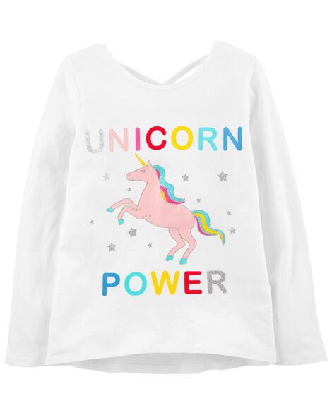 Display product reviews for Glitter Unicorn Criss Cross Tee