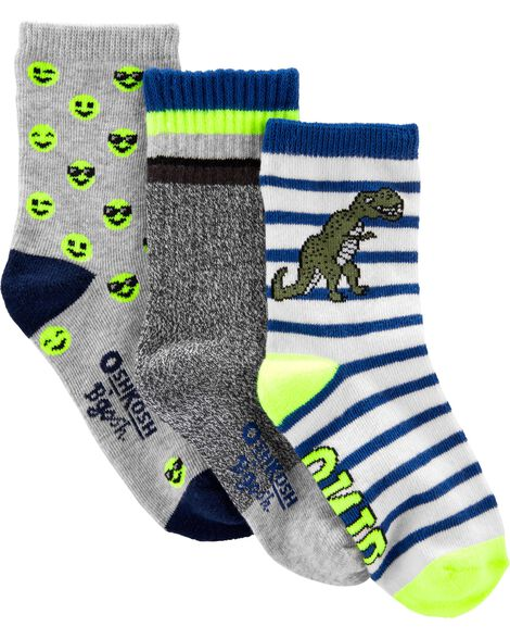 Display product reviews for 3-Pack Dino-Mite Crew Socks