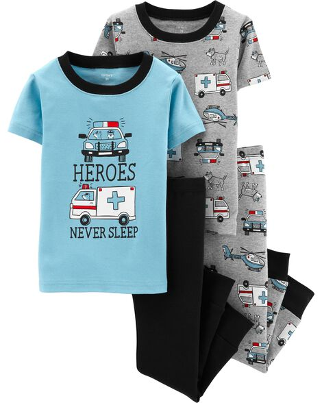 Display product reviews for 4-Piece Rescue Vehicles Snug Fit Cotton PJs a7348d664
