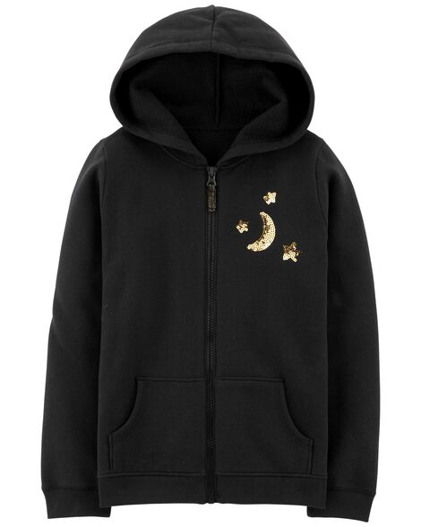 Display product reviews for Sequin Zip-Up Hoodie