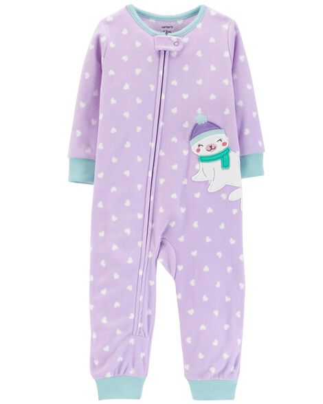 Display product reviews for 1-Piece Heart Fleece Footless PJs