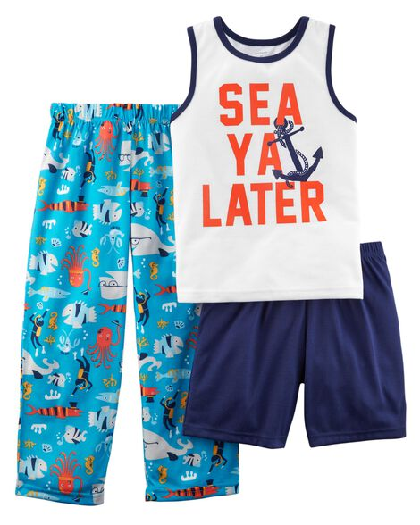 Display product reviews for 3-Piece Fish Poly PJs