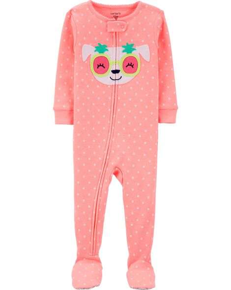 f44d8c880 Display product reviews for 1-Piece Neon Dog Snug Fit Cotton Footie PJs