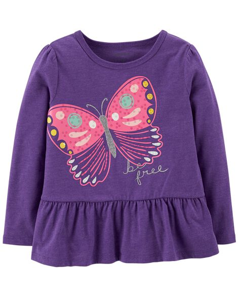 Display product reviews for Glitter Butterfly Ruffle Tee
