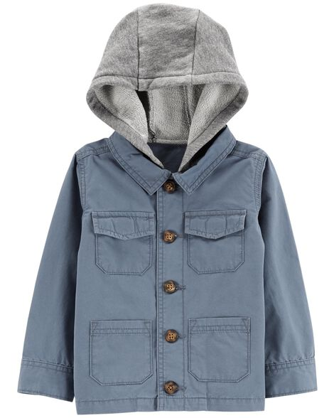 Display product reviews for Hooded Button-Front Jacket