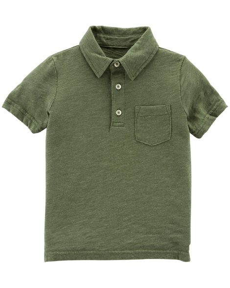 Display product reviews for Garment-Dyed Slub Jersey Polo