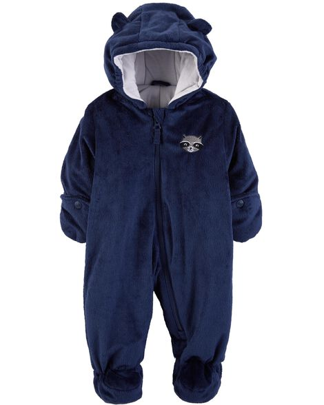 7ace0e341 Raccoon Fuzzy Pram Suit