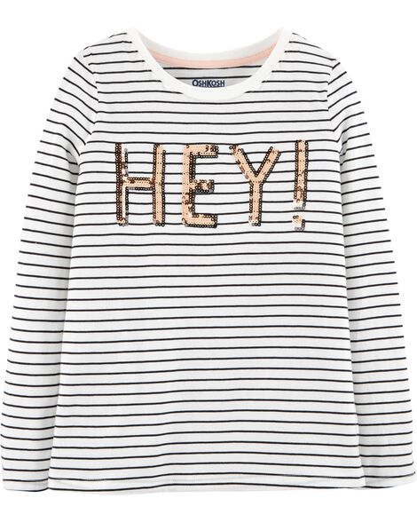 Display product reviews for Hey Striped Tee