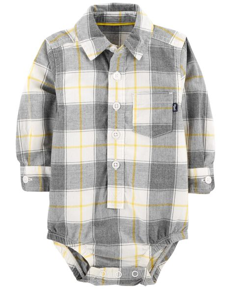 Display product reviews for Button-Front Plaid Bodysuit