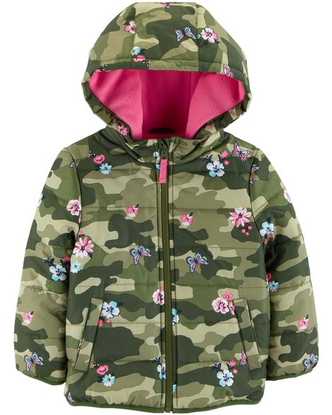 Display product reviews for Floral Camo Puffer Jacket