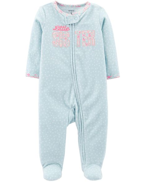 Display product reviews for Little Sister Zip-Up Fleece Sleep & Play