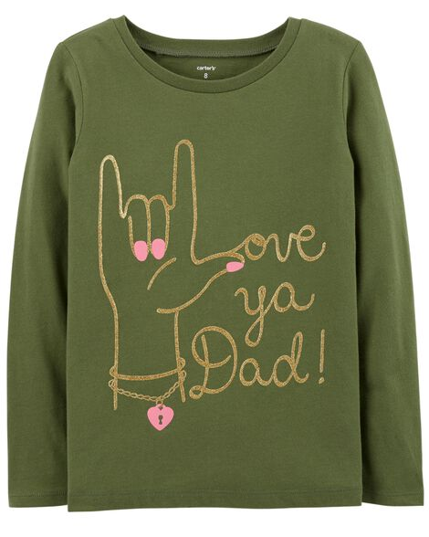 Display product reviews for Glitter Love Ya Dad Jersey Tee
