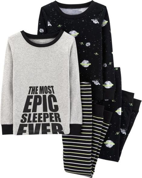 Display product reviews for 4-Piece Space Snug Fit Cotton PJs