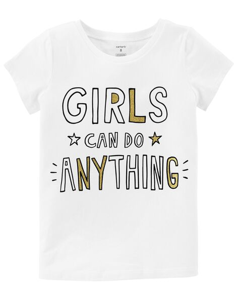 Display product reviews for Girls Can Do Anything Glitter Tee