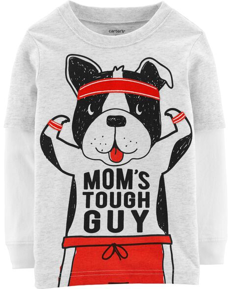 eb71d1b5c5c7 Display product reviews for Dog Tough Guy Layered-Look Tee