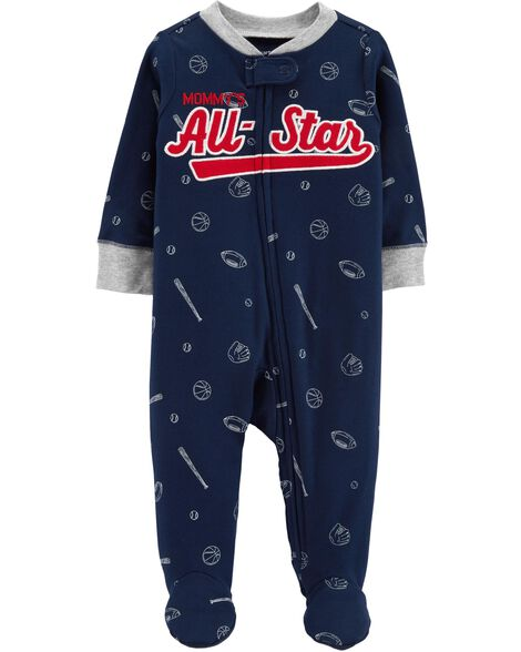 Display product reviews for Baseball Zip-Up Cotton Sleep   Play ef06e12dd