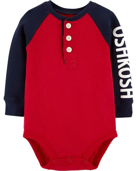 Display product reviews for Logo Henley Bodysuit