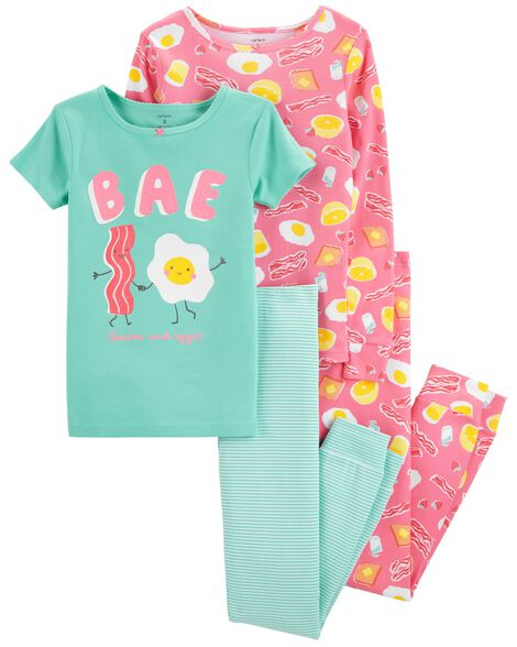 Display product reviews for 4-Piece Breakfast Snug Fit Cotton PJs