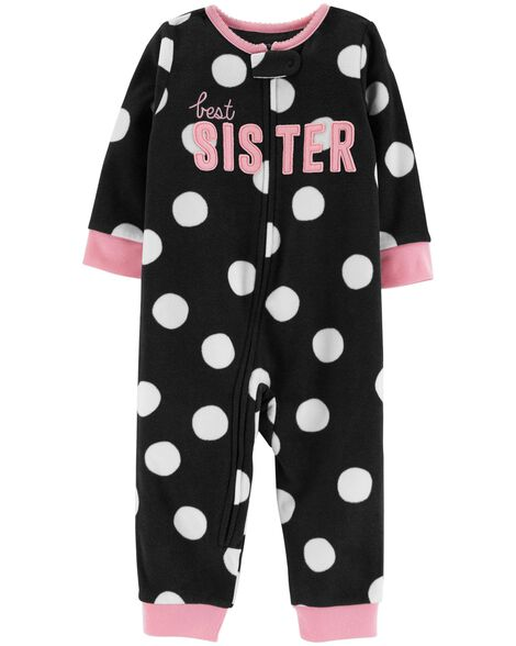 Display product reviews for 1-Piece Best Sister Fleece Footless PJs