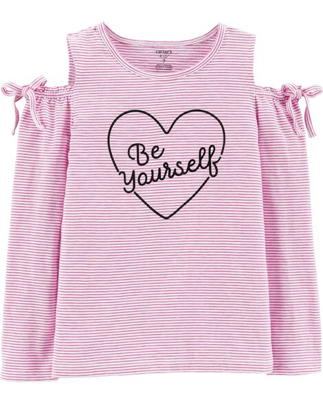Display product reviews for Be Yourself Cold Shoulder Slub Top