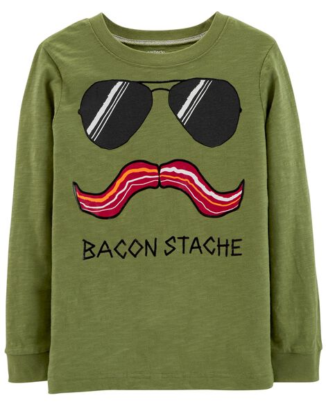 Display product reviews for Bacon Stache Slub Jersey Tee