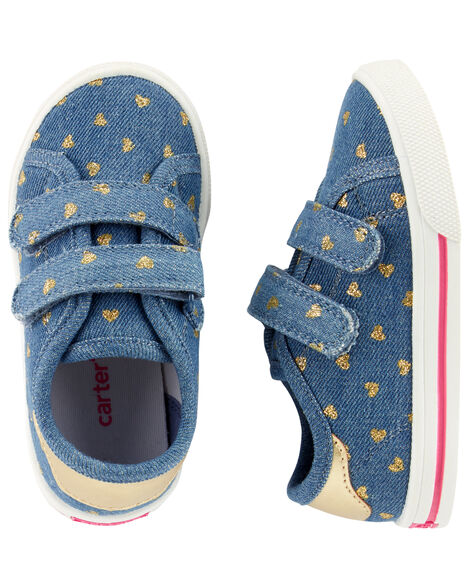 Display product reviews for Carter's Chambray Heart Casual Sneakers