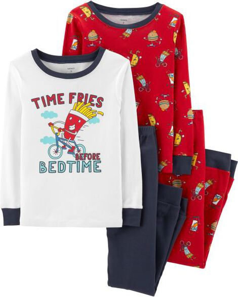 Display product reviews for 4-Piece French Fries Snug Fit Cotton PJs