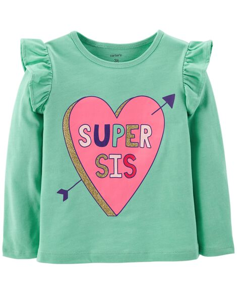Display product reviews for Super Sis Heart Flutter Tee