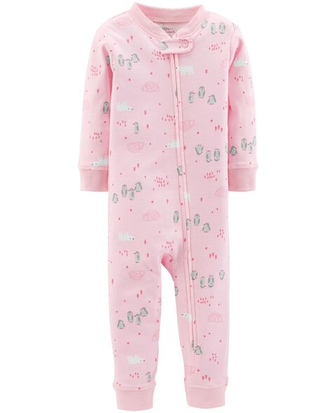 Display product reviews for 1-Piece Certified Organic Snug Fit Cotton Footless PJs