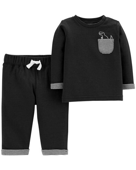 Display product reviews for 2-Piece Dino Top & Reversible Pant Set