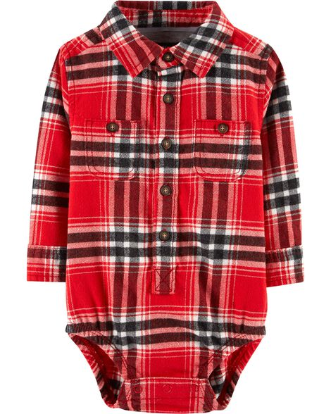 Display product reviews for Button-Front Flannel Bodysuit