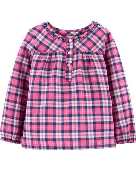 Display product reviews for Shimmer Plaid Top