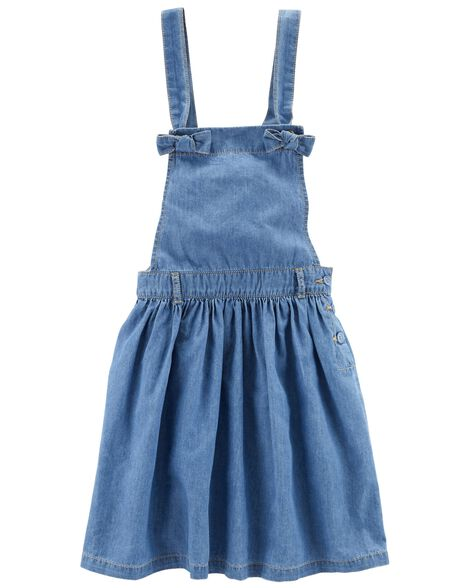 Display product reviews for Denim Overall Dress