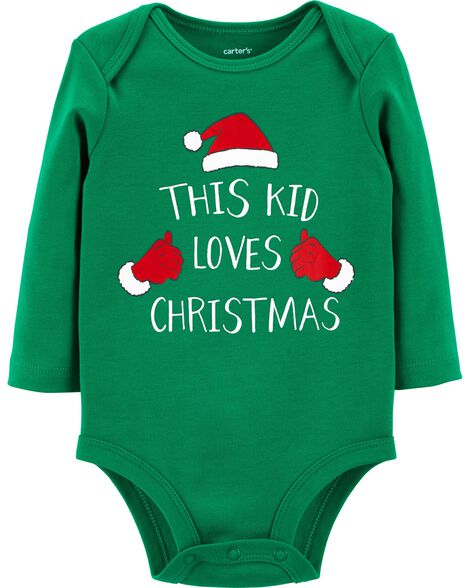 Display product reviews for This Kid Loves Christmas Bodysuit