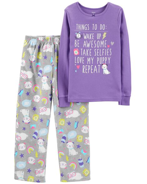 Display product reviews for 2-Piece Puppy Cotton & Fleece PJs