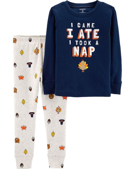 Display product reviews for 2-Piece Thanksgiving Snug Fit Cotton PJs