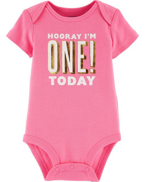 Display product reviews for First Birthday Collectible Bodysuit