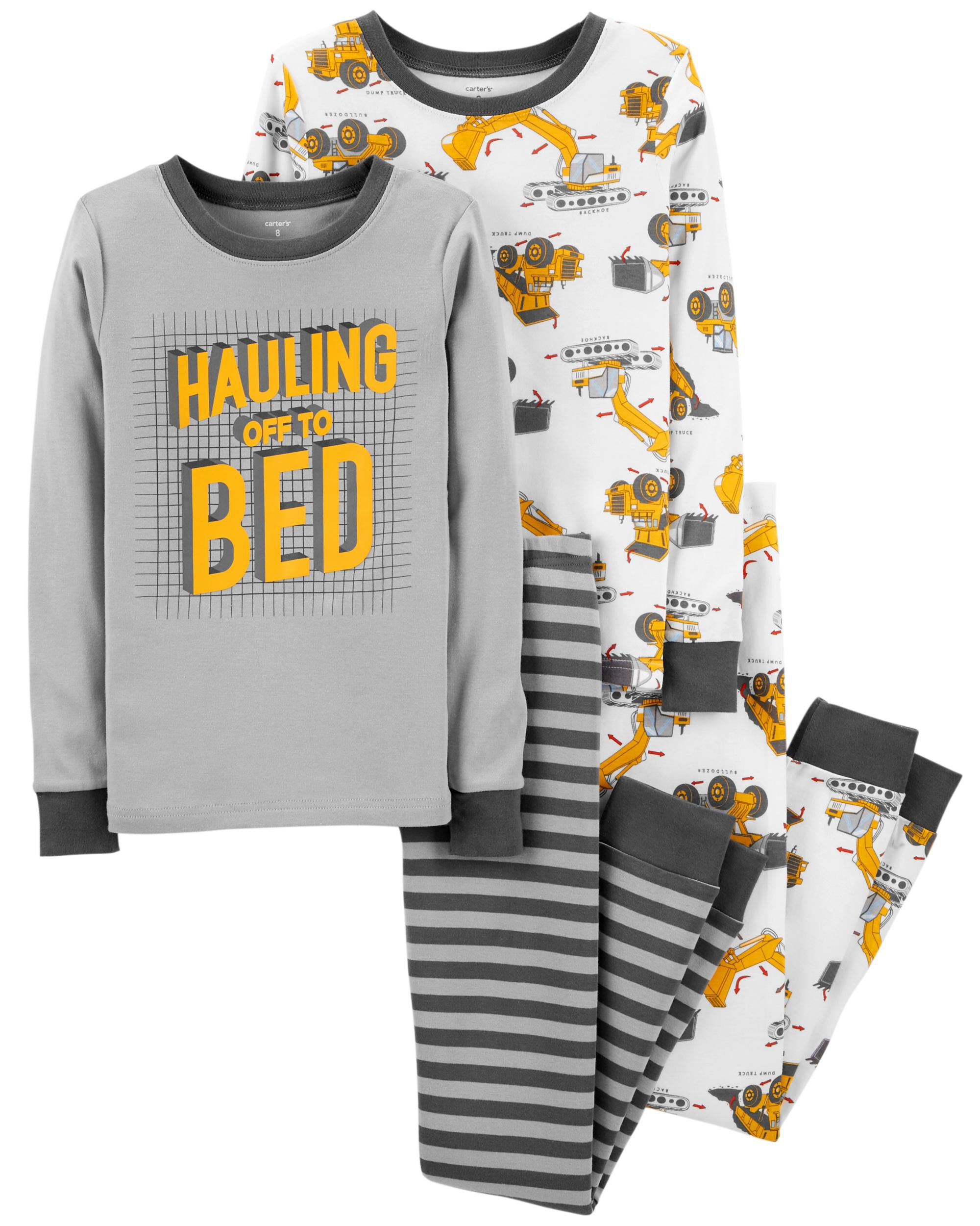 e3c3effdd 4-Piece Construction Snug Fit Cotton PJs