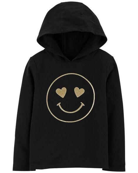 Display product reviews for Glitter Smiley Face Pullover Hoodie