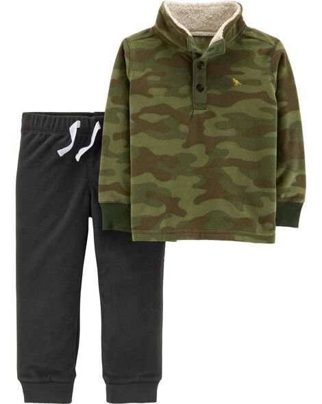 Display product reviews for 2-Piece Camo Fleece Pullover & Jogger Set