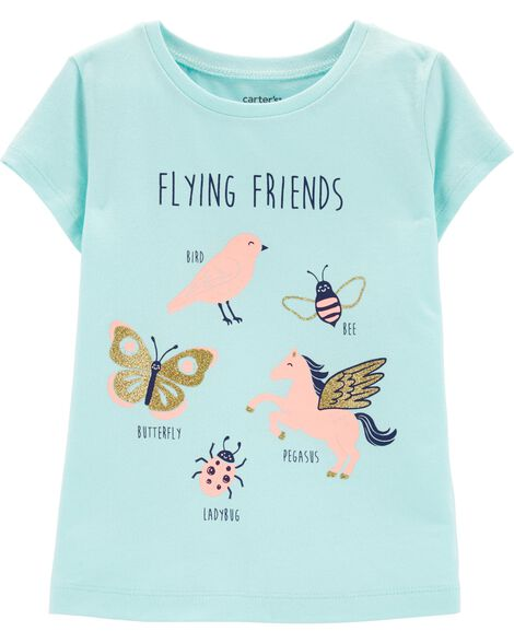 ffaeb7a290d2 Display product reviews for Glitter Flying Friends Jersey Tee
