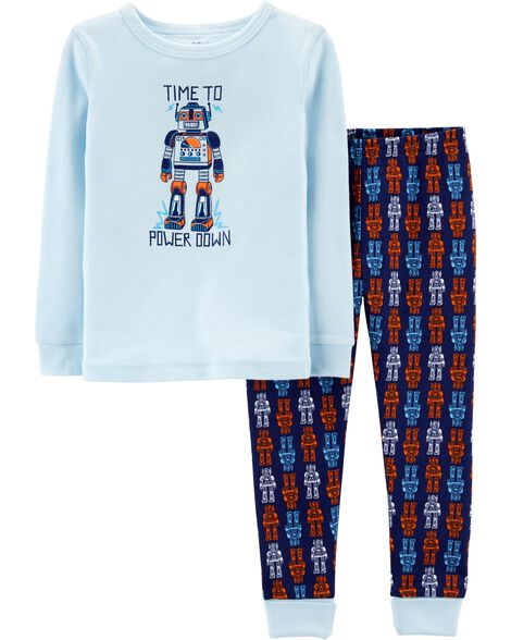 Display product reviews for Snug Fit Robot Cotton PJs
