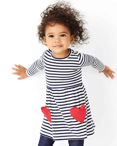 Display product reviews for Striped Heart Jersey Dress
