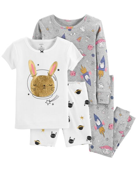Display product reviews for 4-Piece Space Bunny Snug Fit Cotton PJs